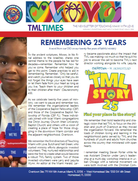 Read our 25th Anniversary newsletter by clicking on the image
